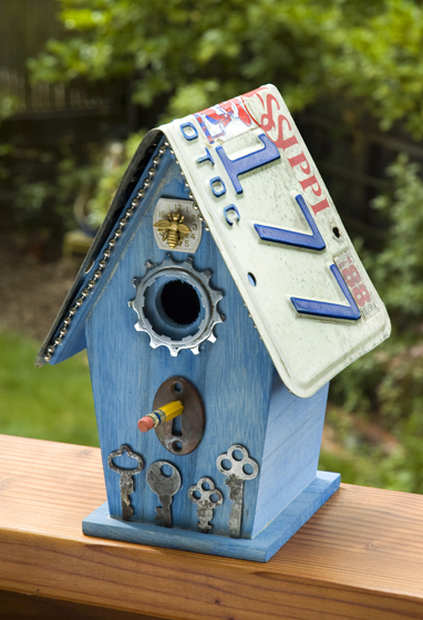 bird house plans license plates