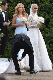 Heiress Nicky Hilton weds in £50,000 wedding dress (photos)