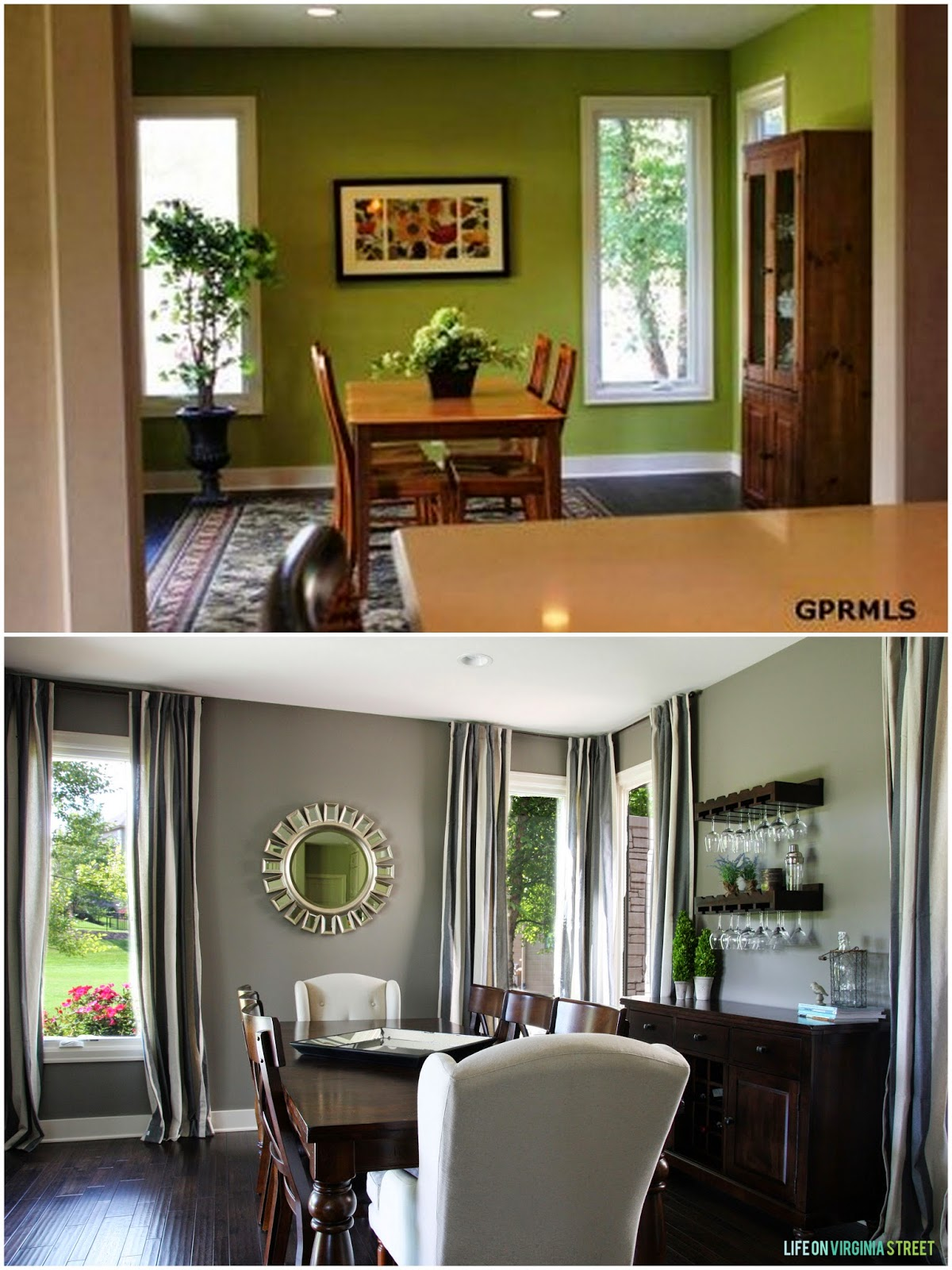 dining room before and
