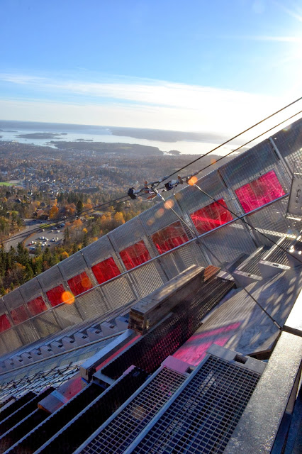 visiting holmenkollen in oslo norway