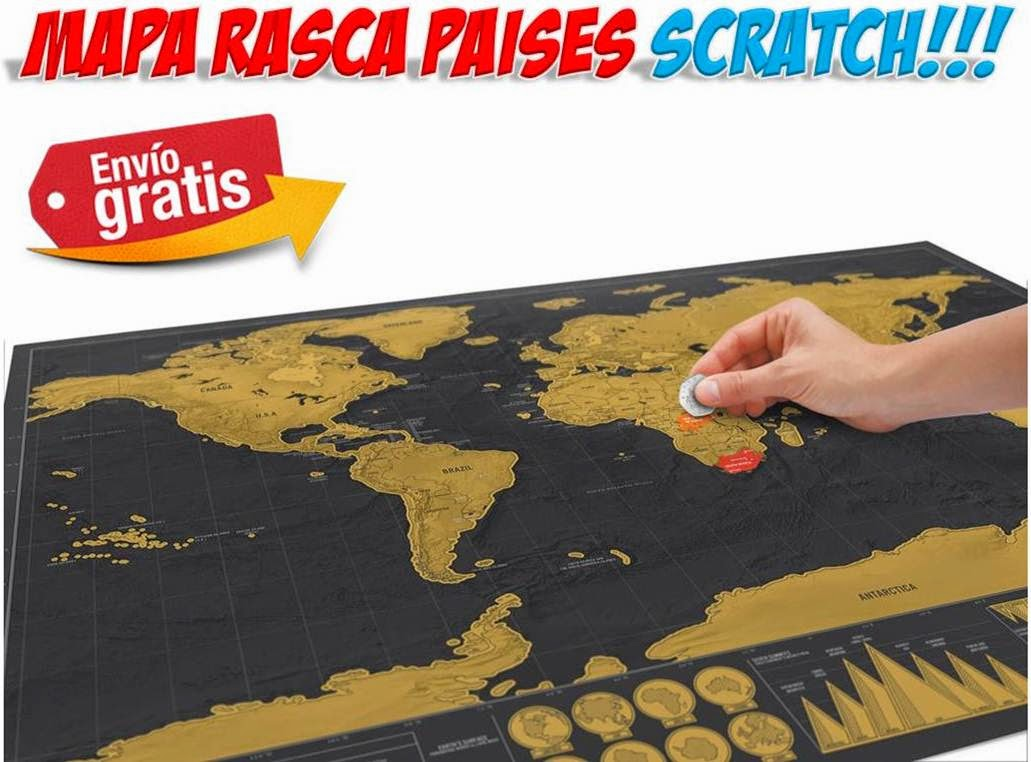 mapa Scratch paises visitados