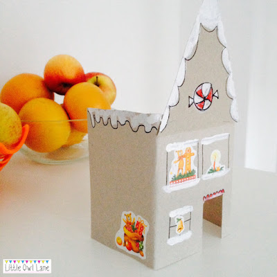 Gingerbread House Craft DIY by Lady Lucas