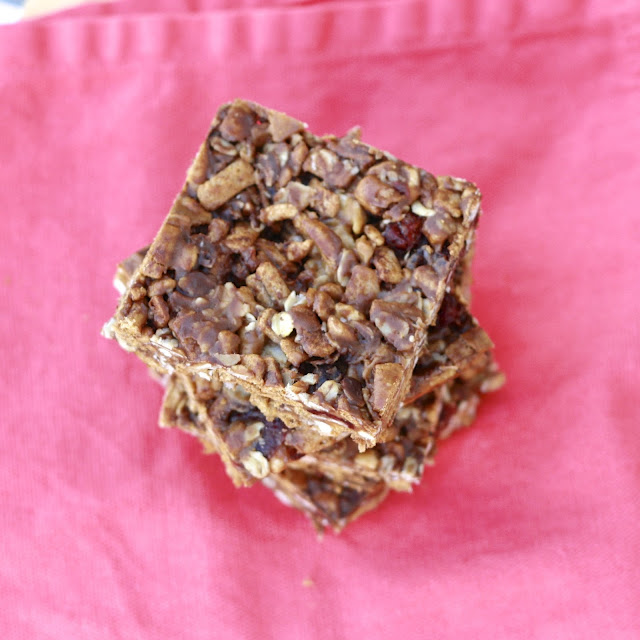 homemade no bake peanut butter granola bars
