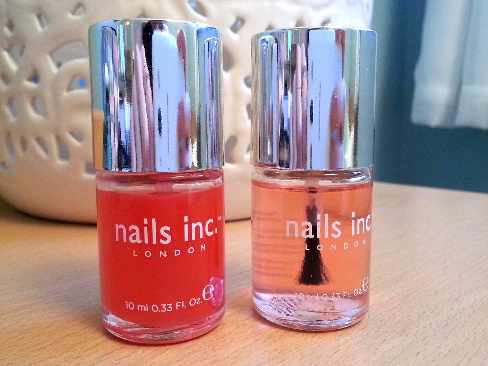 Nails Inc Kensington Caviar Top Coat Base Coat Review