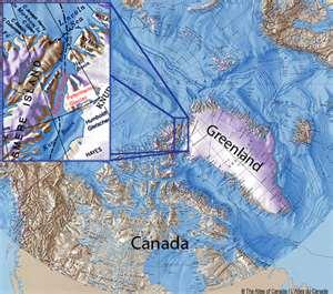 Mapa de Groenlandia