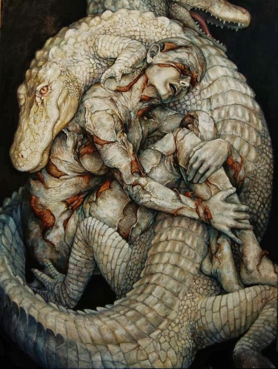 Hannah Yata surreal paintings women nature animals