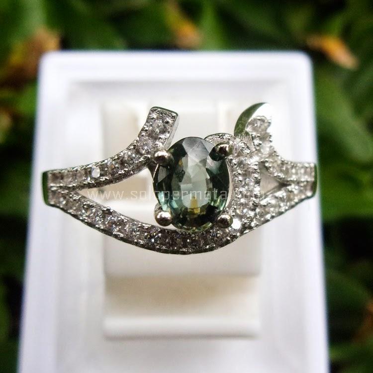 Cincin Batu Permata Blue Sapphire Ceylon - SP566