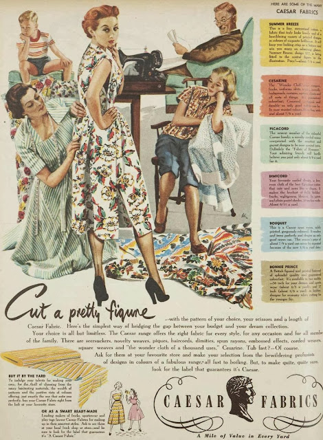 Cut a pretty figure, 1952