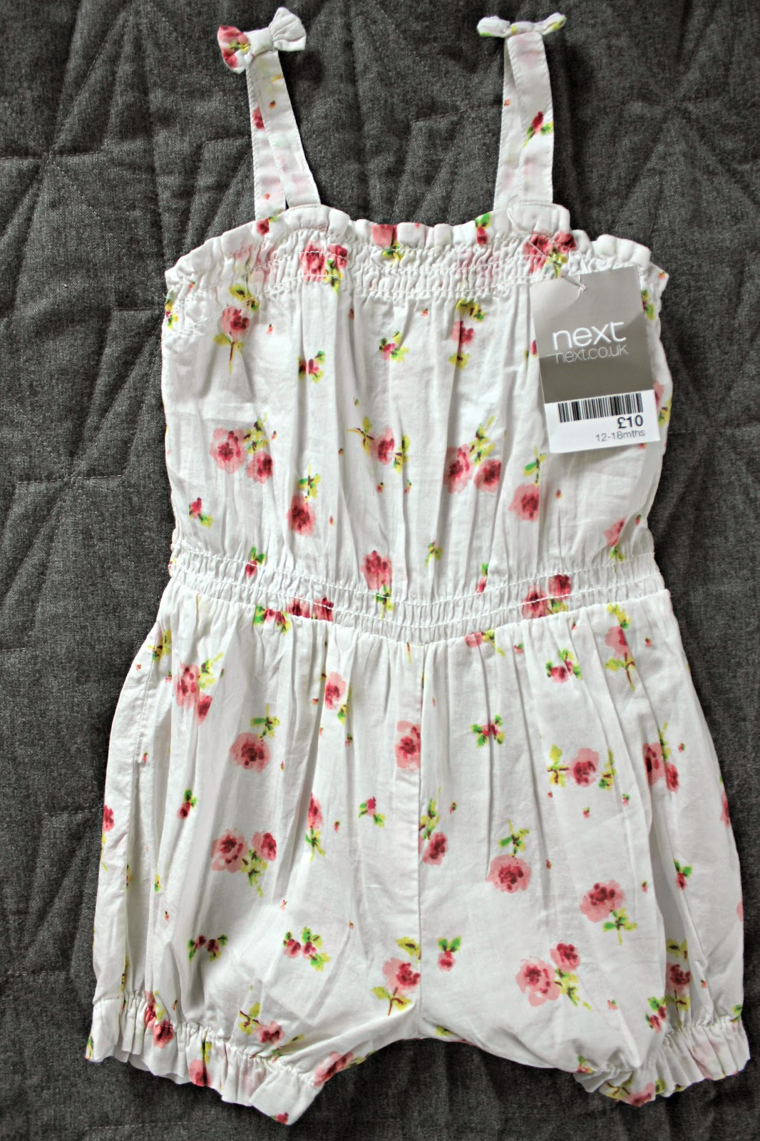 Next Ecru Rose Print Romper