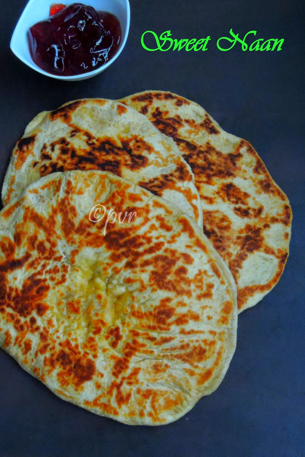 Orange flavoured sweet naan