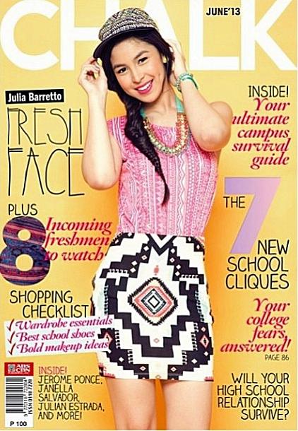 Julia Barretto Covers Chalk Magazine June 2013 Issue