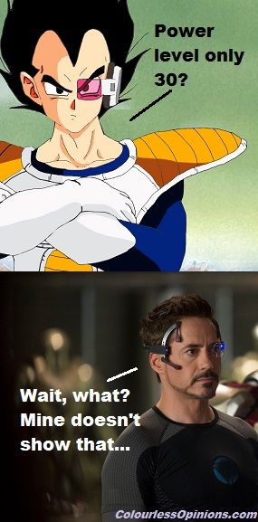 Vegeta Tony Stark meme