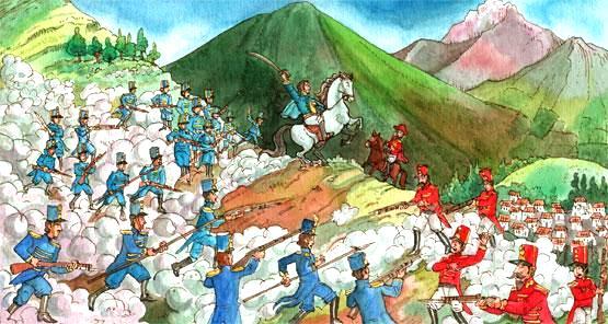 Imagen de la Batalla de Pichincha