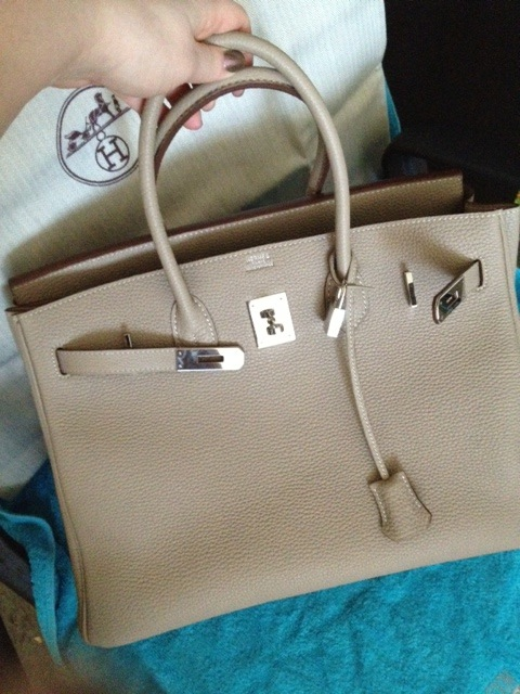 how much is a birkin bag - Purse Princess: Replica Taupe Hermes Birkin 35cm Clemence from ...