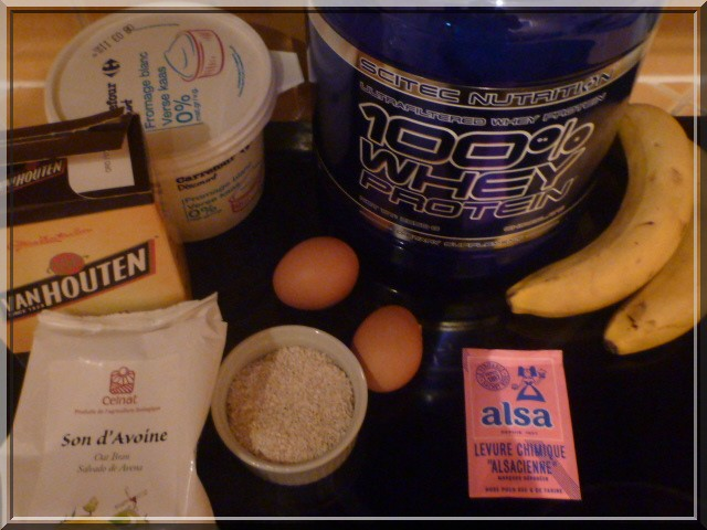 Turbo La Diet' Gourmande: Gateau moelleux protéiné chocolat-banane SA13