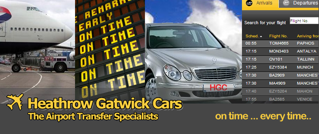 Heathrow Gatwick Cars - Transfers Gatwick Heathrow Taxis