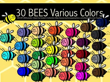 Free Bees Clipart by The Lost Teacher