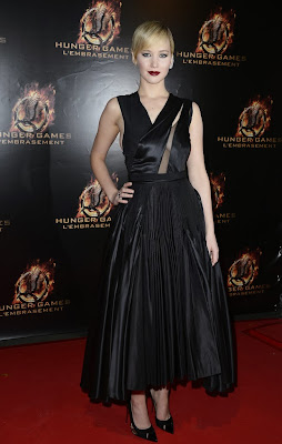 Jennifer Lawrence Paris Catching Fire Premiere Dior
