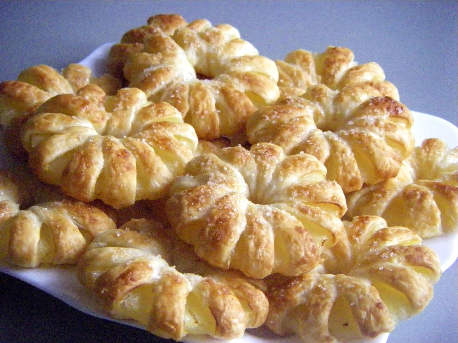 Печенья из слоеного теста рецепт с фото