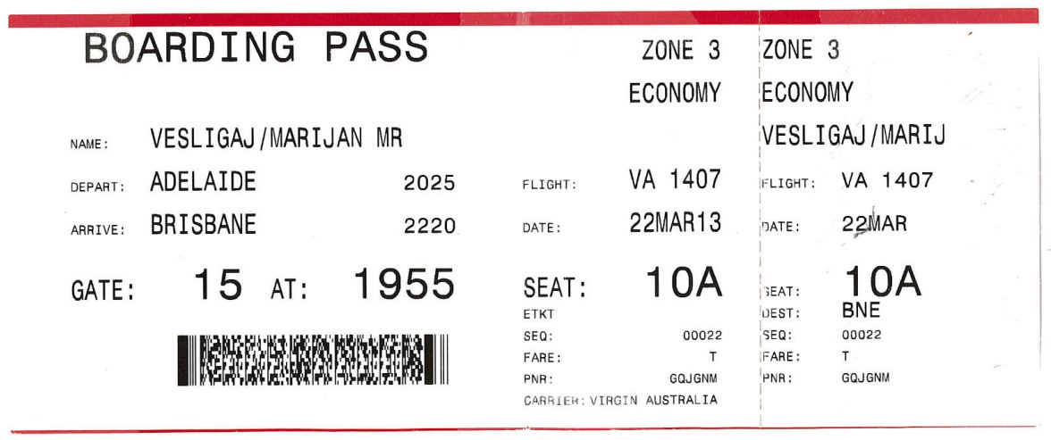 Doc1300740 Fake Plane Ticket Template Blank Airline Boarding – Plane Ticket Template