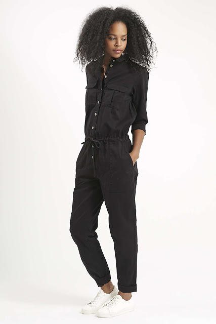 women black boiler suit