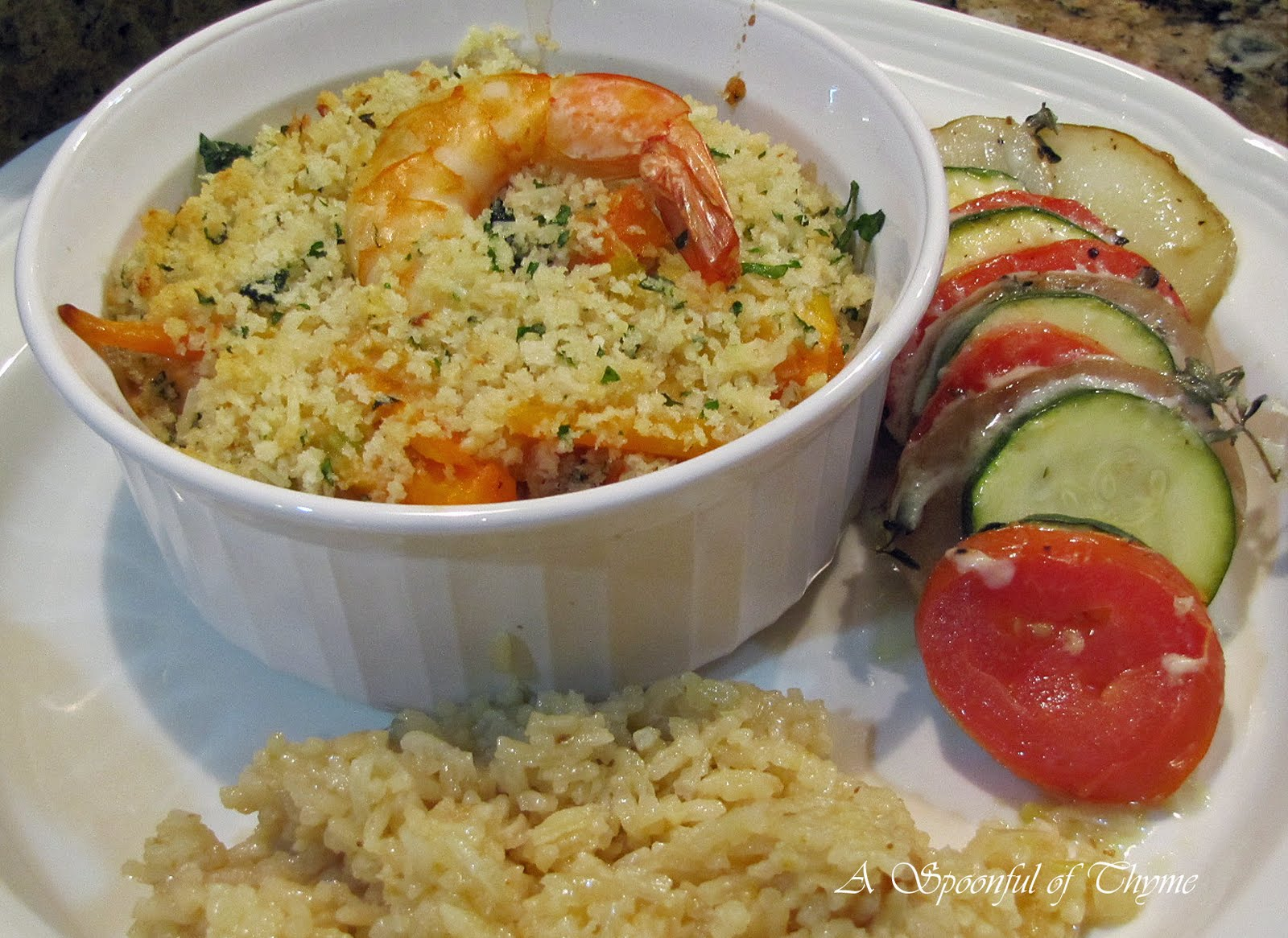 gratin spicy shrimp gratin seafood gratin top peeled deveined shrimp ...