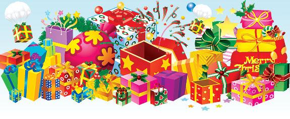 Новогодние подарки в картинках для детей 44