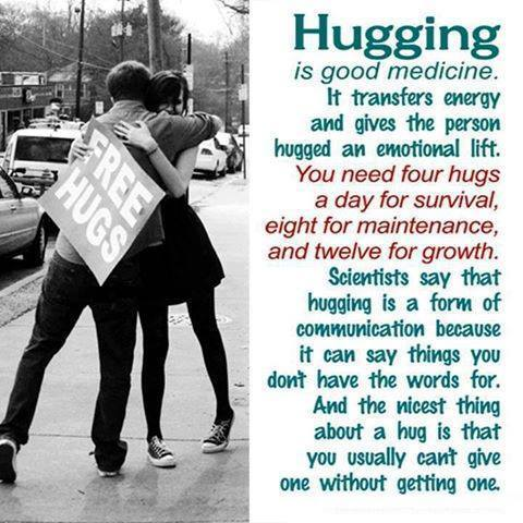 We need at least 8 hugs a day.
