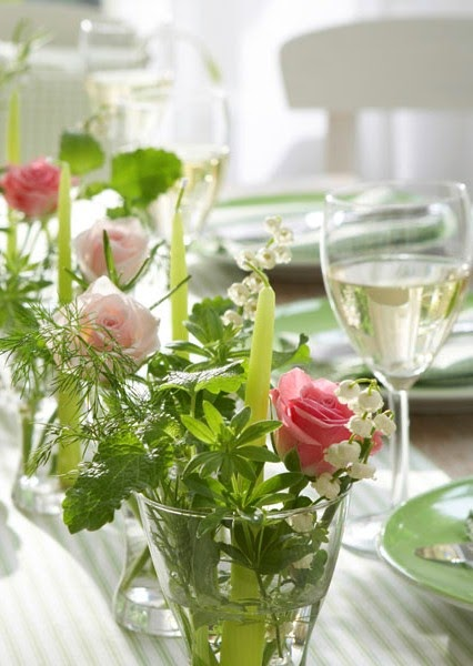Doberman's by the Sea: {Tablescapes} Using summery herbs