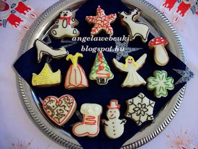 Puha mézes figurák, egy nagyon egyszerűen elkészíthető sütemény,  cukormáz dekor tollal díszítve.