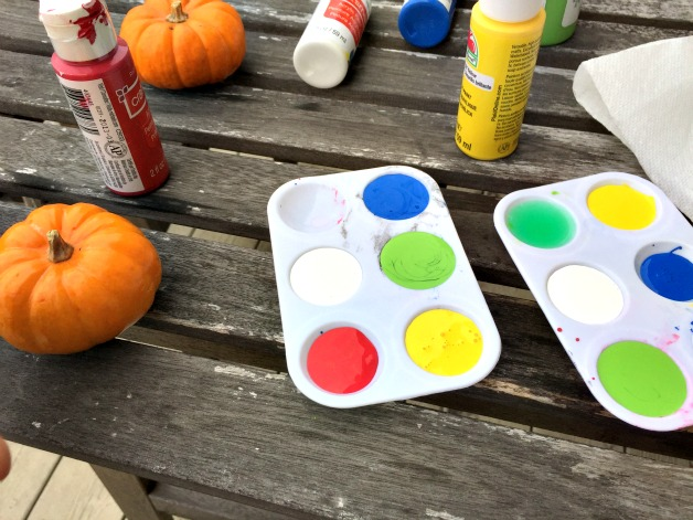 multi-colored acrylic paints