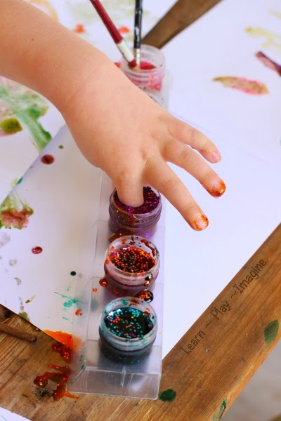 Sparkly paint recipe perfect for open ended art projects