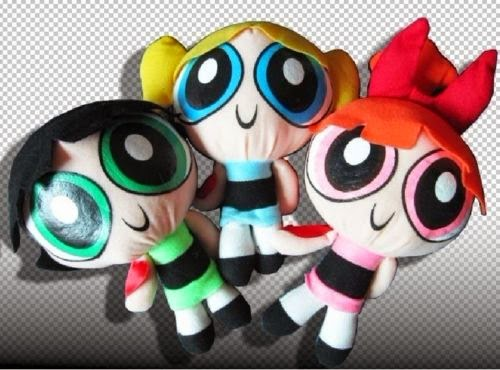 "New Three Cool 1999 Cartoon Network The Powerpuff Girls Plush Toy Soft 9"" Doll"