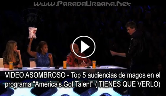 "VIDEO ASOMBROSO - Top 5 audiencia de magos en el programa ""America's Got"""