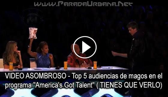 """VIDEO ASOMBROSO - Top 5 audiencia de magos en el programa """"America's Got"""""""
