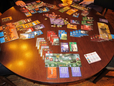 7 Wonders - A close up of the table at the end of the Third Age
