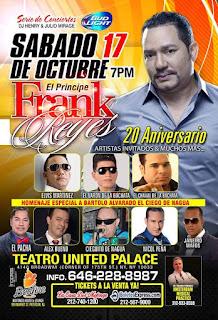 """Será una """"Noche de Pasión"""" el concierto de Frank Reyes en el Teatro United Palace de NY."""