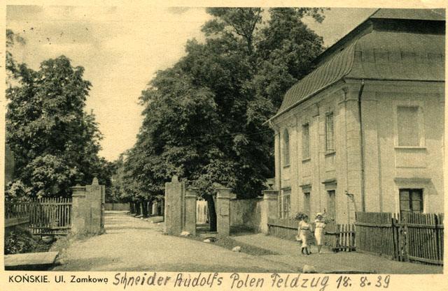 Końskie, pocztówka żołnierza niemieckiego przebywającego w szpitalu; wysłana w dniu 26 września 1939 z Końskich do rodziny w Niemczech, w dniu 26 września 1939, pocztą polową [z kolekcji KW]