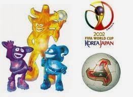 Logo balon y mascotas mundial corea japon 2002