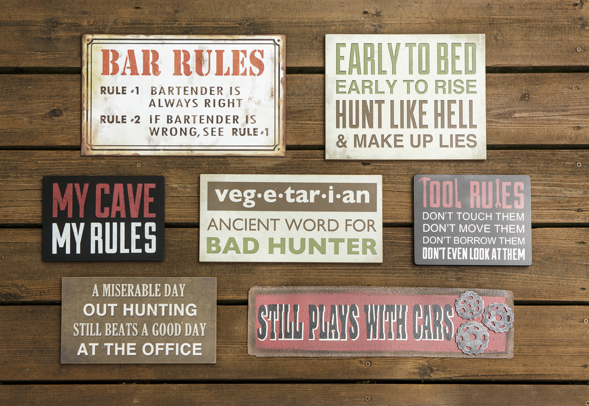 Homemade Man Cave Signs : Craft warehouse