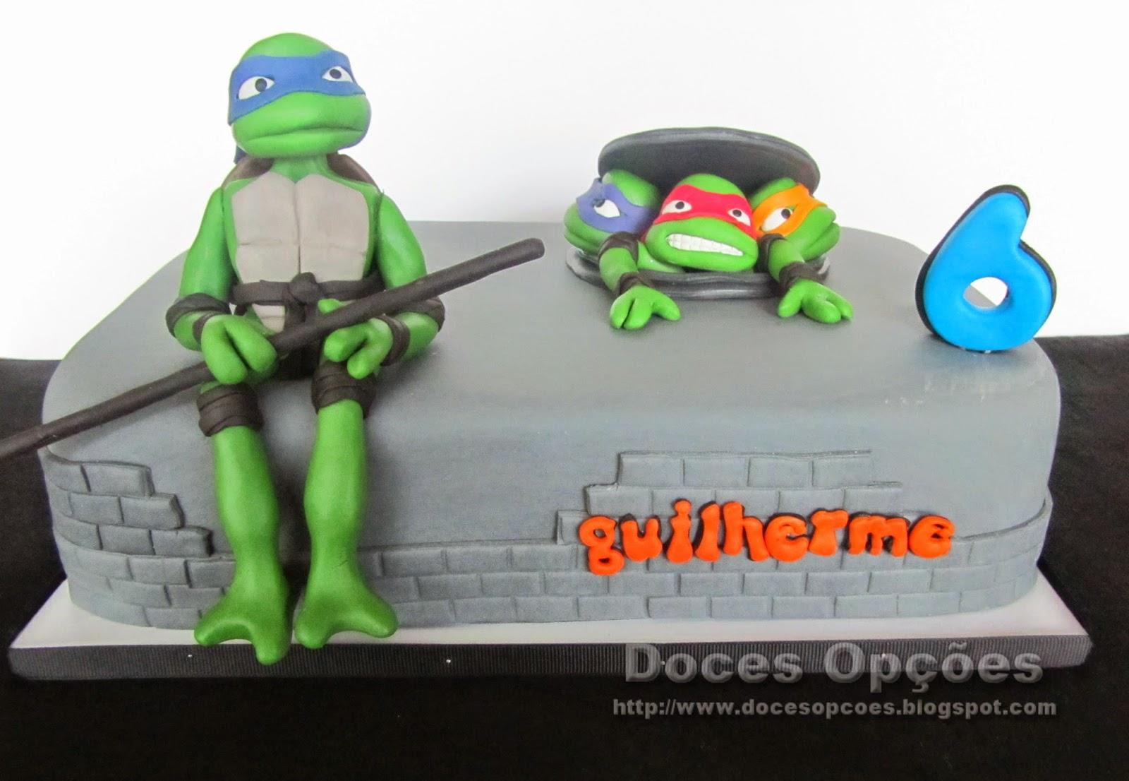 As tartarugas ninja no 6º aniversário do Guilherme