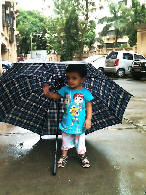 Anisha and her umbrella