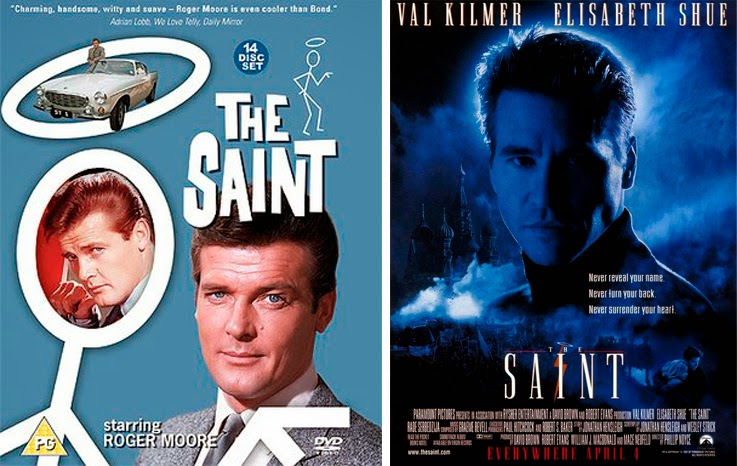 Val Kilmer y Roger Moore como Simon Templar