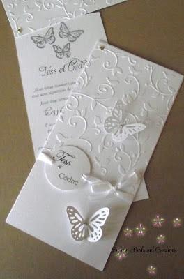 zeste d 39 amour faire part mariage papillon blanc. Black Bedroom Furniture Sets. Home Design Ideas