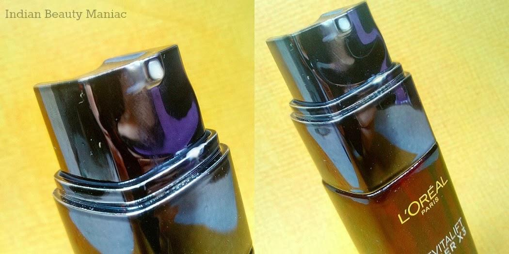 L'Oreal Paris Revitalift Laser X3 Renewing Anti-Ageing Serum dispenser