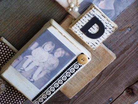 photos and mementos create a family heirloom
