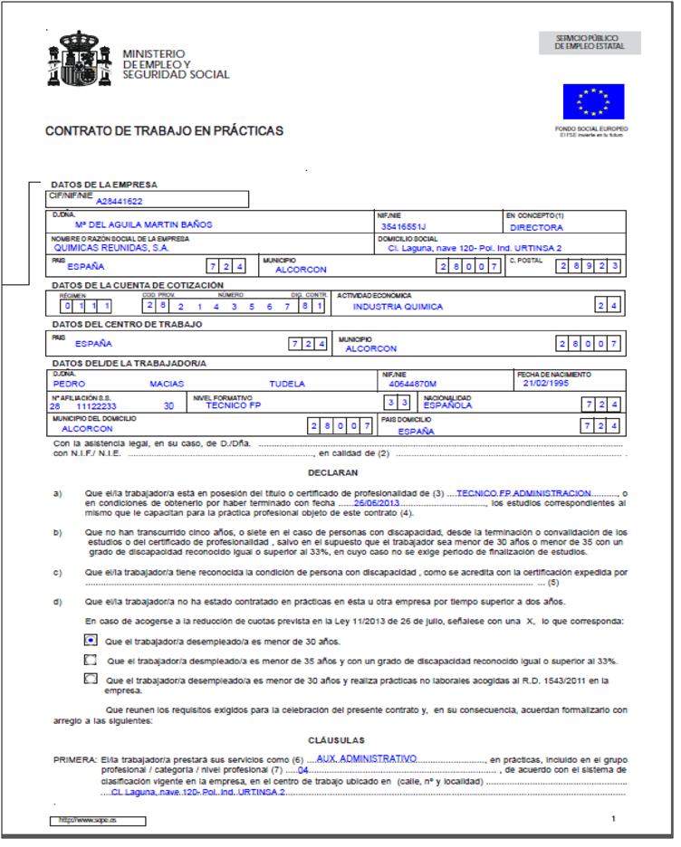 Creeper 121 administracion y finanzas marzo 2015 for Modelo contrato empleada de hogar 2015