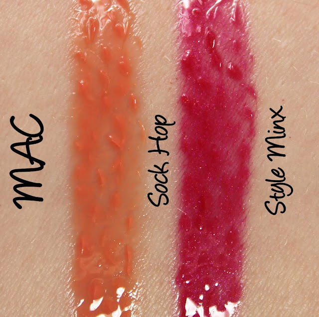 MAC Monday: Heatherette - Sock Hop and Style Minx Lipglass Swatches & Review
