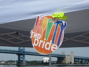 Philly Pride Home Depot PRIDE logo