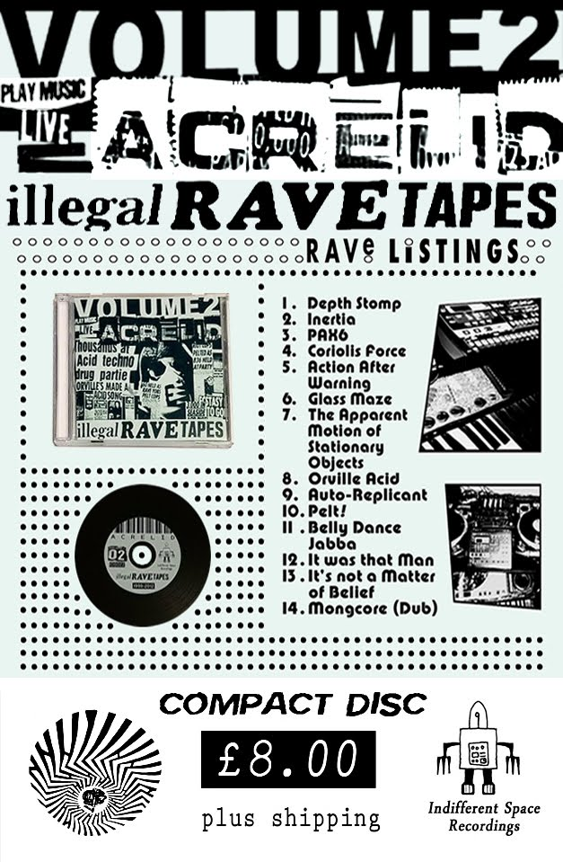 Acrelid - Illegal Rave Tapes - Volume 2 (CD)